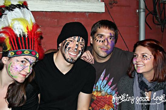 tribal, bonfire, bodypaint