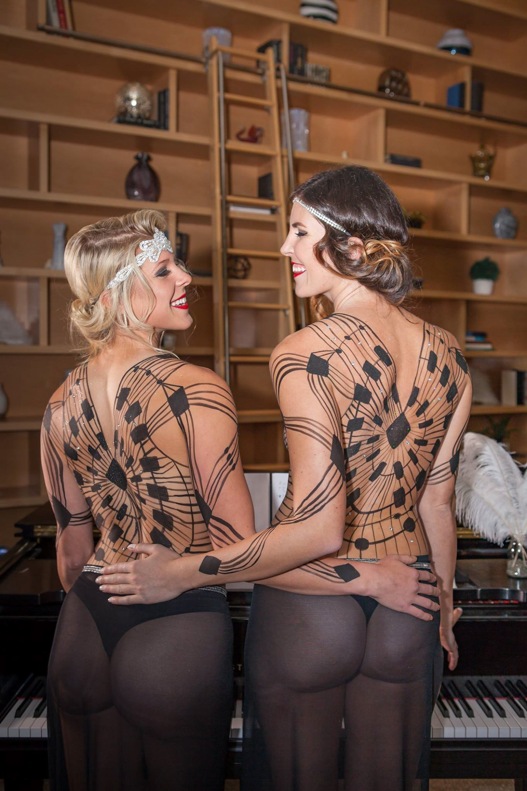 Bodypainted Dresses