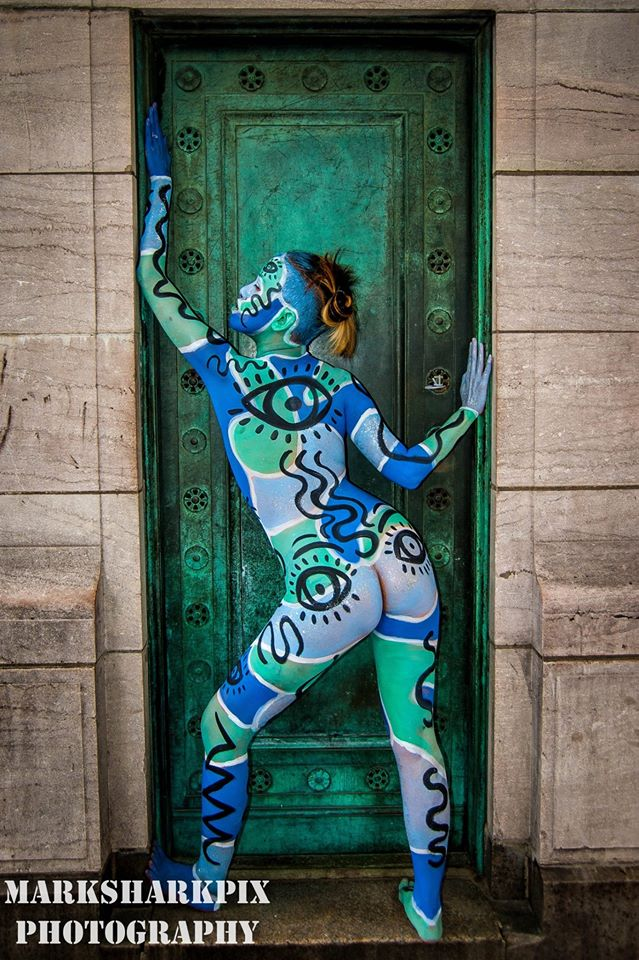 Nyc bodypainting day 2014 for Harvey s paint and body