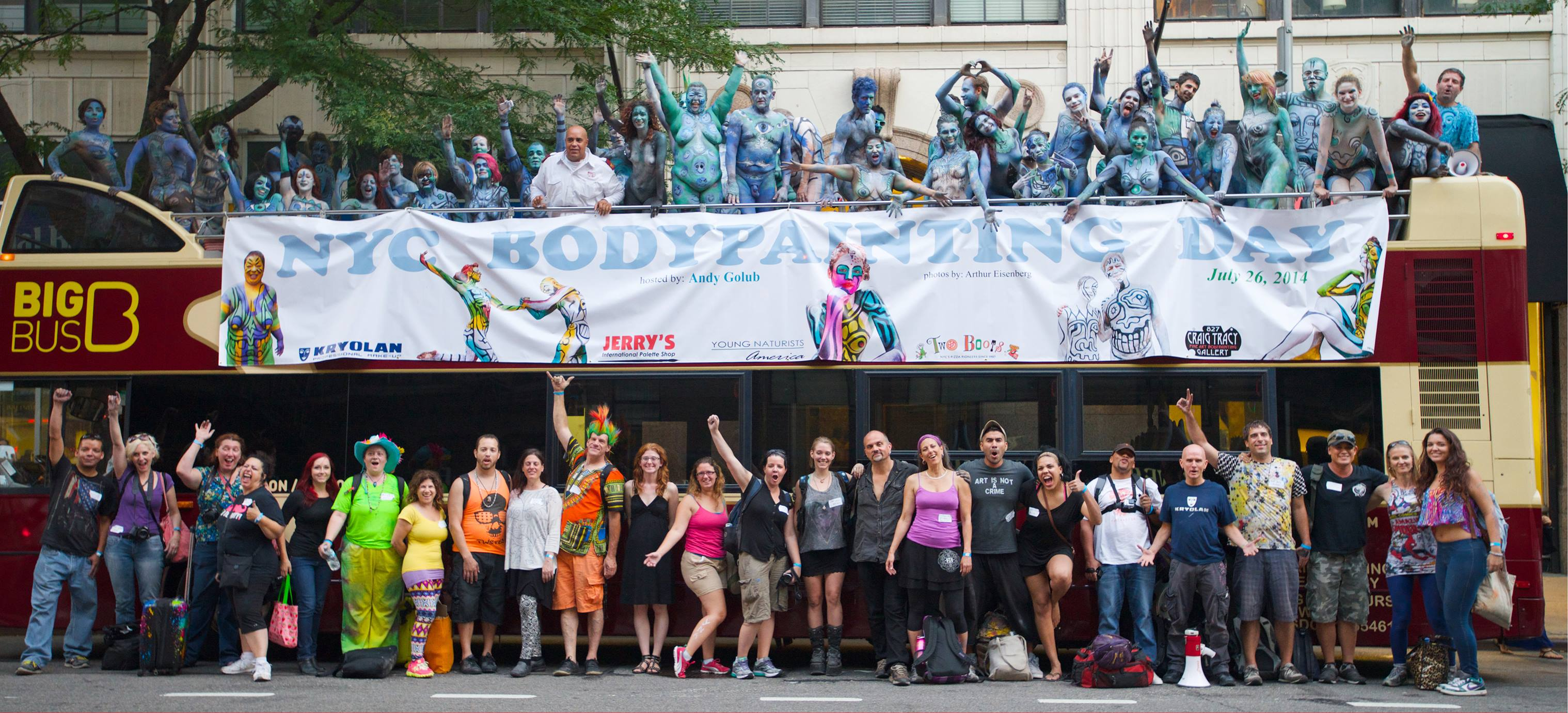 NYC Bodypainting Day 2014 - Bodypaint.me